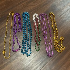 Specialty Mardi Gras Beads 6 count-New!